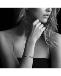 David Yurman - Metallic Cable Classics Bracelet With Diamonds In 18k Gold, 5mm - Lyst
