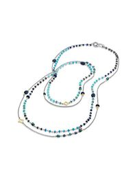 David Yurman - Bijoux Bead Necklace With Lapis Lazuli, Hampton Blue Topaz, Hematine And 18k Gold - Lyst