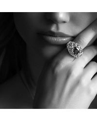 David Yurman - Metallic Venetian Quatrefoil Ring With Madeira Citrine And Diamonds In 18k Gold - Lyst