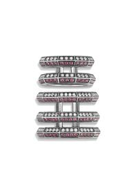 David Yurman - Red Stax Cage Ring With Ruby And Diamonds - Lyst