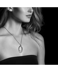 David Yurman - Metallic Continuance Pendant Necklace In 18k Gold - Lyst