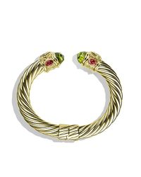 David Yurman - Metallic Renaissance Bracelet In Gold, 10mm - Lyst