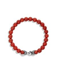 David Yurman   Metallic Spiritual Beads Bracelet With Carnelian, 8mm for Men   Lyst