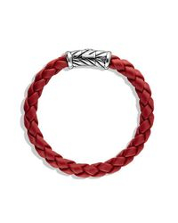David Yurman - Metallic Chevron Bracelet In Red for Men - Lyst