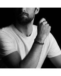 David Yurman | Chevron Triple-wrap Bracelet In Brown Leather And 18k Gold for Men | Lyst