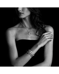 David Yurman - Metallic Confetti Three Row Bracelet With Diamonds In 18k Gold - Lyst