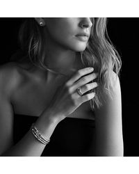 David Yurman | Metallic Cable Classic Buckle Bracelet With 18k Gold, 5mm | Lyst