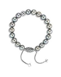 David Yurman | Metallic Spiritual Beads Bracelet With Gray Pearls | Lyst