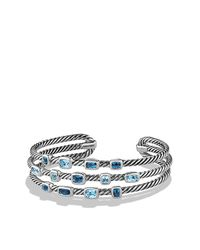David Yurman - Metallic Confetti Narrow Cuff Bracelet - Lyst