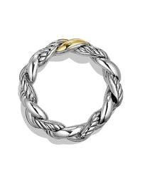 David Yurman | Metallic Belmont Curb Link Bracelet With 18k Gold, 25mm | Lyst