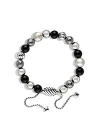 David Yurman - Dy Elements Bracelet With Black Onyx And Hematine, 8mm - Lyst