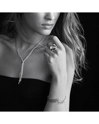 David Yurman - Metallic Willow Drop Necklace With Diamonds - Lyst