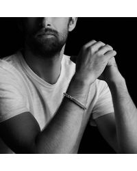 David Yurman - Modern Cable Id Bracelet With Black Onyx for Men - Lyst