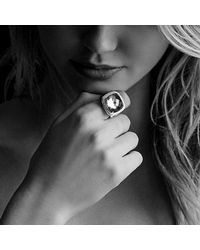 David Yurman - Metallic Albion® Ring With Champagne Citrine And Diamonds In 18k Gold - Lyst