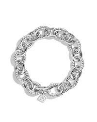 David Yurman | Metallic Large Oval Link Bracelet | Lyst