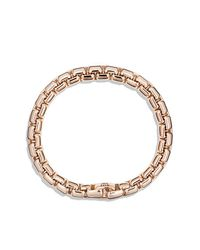 David Yurman   Pink Box Chain Bracelet In 18k Rose Gold, 7.5mm for Men   Lyst