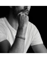 David Yurman | Curb Chain Bracelet With Black Diamonds for Men | Lyst