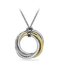 David Yurman - Metallic Crossover Pendant Necklace With 14k Gold - Lyst