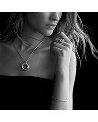 David Yurman - Metallic Crossover Small Pendant Necklace With 14k Gold - Lyst