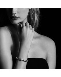 David Yurman - Metallic X Bracelet With 14k Gold - Lyst
