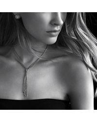 David Yurman - Metallic Willow Tassel Necklace With Diamonds In 18k Gold - Lyst