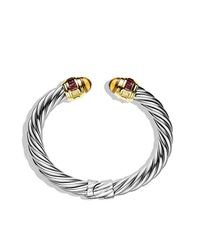 David Yurman - Metallic Renaissance Bracelet With Citrine, Rhodolite Garnet, And 14k Gold, 8.5mm - Lyst