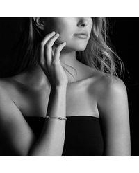David Yurman - Metallic X Bracelet With Diamonds In 18k Gold, 4mm - Lyst