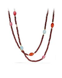 David Yurman - Red Bead Necklace With Garnet And Pink Tourmaline - Lyst