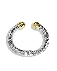 David Yurman - Metallic Cable Classics Bracelet With 14k Gold, 10mm - Lyst