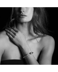 David Yurman - Cable Classic Crossover Bracelet With Black Onyx And Diamonds, 8.5mm - Lyst