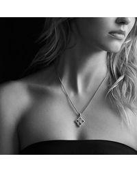 David Yurman - Pink Venetian Quatrefoil Pendant Necklace With Diamonds In 18k Rose Gold - Lyst