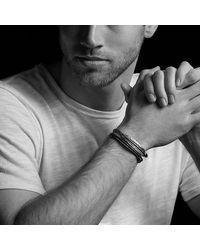 David Yurman - Feather Triple-wrap Bracelet In Black Leather With Black Onyx for Men - Lyst