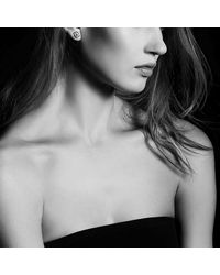 David Yurman - Metallic Crossover Earrings With Diamonds In 18k Rose Gold, 11mm - Lyst