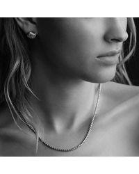 David Yurman | Metallic Sculpted Cable Earrings In 18k Gold | Lyst