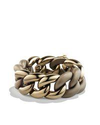 David Yurman - Metallic Belmont Curb Link Bracelet In Titanium With An Accent Of 18k Gold - Lyst