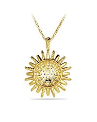 David Yurman | Metallic Starburst Large Pendant Necklace With Diamonds In 18k Gold, 35mm | Lyst