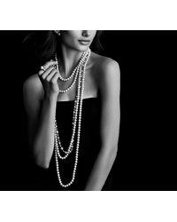 David Yurman | White Pearl Necklace With Diamonds | Lyst