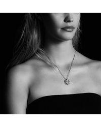 David Yurman | Starburst Pendant Necklace With Hampton Blue Topaz And Diamonds, 23mm | Lyst