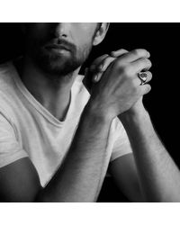 David Yurman | Pink Petrvs Bee Signet Ring In 18k Rose Gold for Men | Lyst