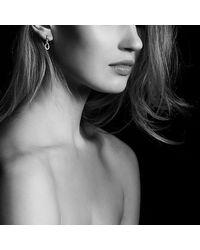 David Yurman | Metallic Continuance Small Drop Earrings With Diamonds In 18k Rose Gold | Lyst