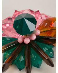 MSGM - Multicolor Flower Earrings - Lyst