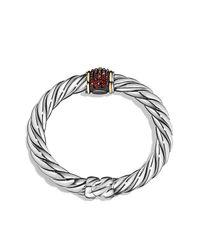 David Yurman - Metallic Bracelet With Garnet And 18k Gold - Lyst