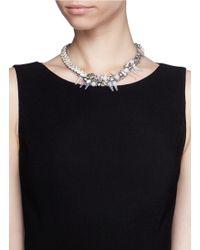 Assad Mounser | Metallic Crystal Vine Spike Necklace | Lyst