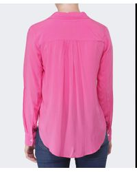 Velvet By Graham & Spencer - Pink Delores Challis Blouse - Lyst