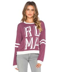 Wildfox - Purple Roma Sweatshirt - Lyst