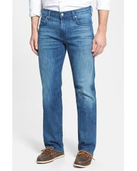 7 For All Mankind | Blue 'carsen - Luxe Performance' Easy Straight Leg Jeans for Men | Lyst