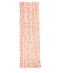 Elizabeth Gillett - Pink Chevron-Print Woven Scarf - Lyst