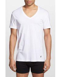 Polo Ralph Lauren - White V-Neck T-Shirt, (3-Pack) for Men - Lyst
