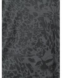 Unconditional - Gray Leopard Flower Print Tank Top - Lyst