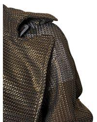 Vivienne Westwood - Brown Lurex Knit Trench Coat - Lyst